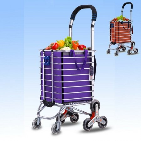 8 Wheels Folding Portable Stair Climbing Shopping Cart Trolley