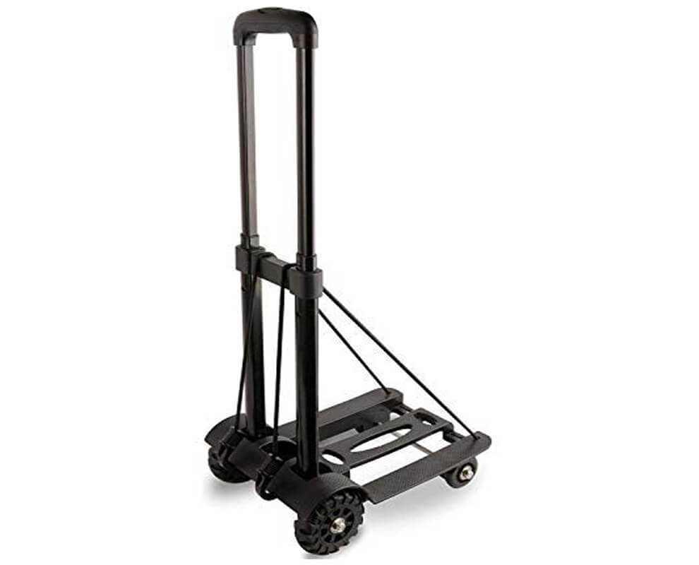 Folding Hand Truck Lightweight Utility Cart for Luggage/Personal/Travel/Office Use Portable Fold Up Hand Cart