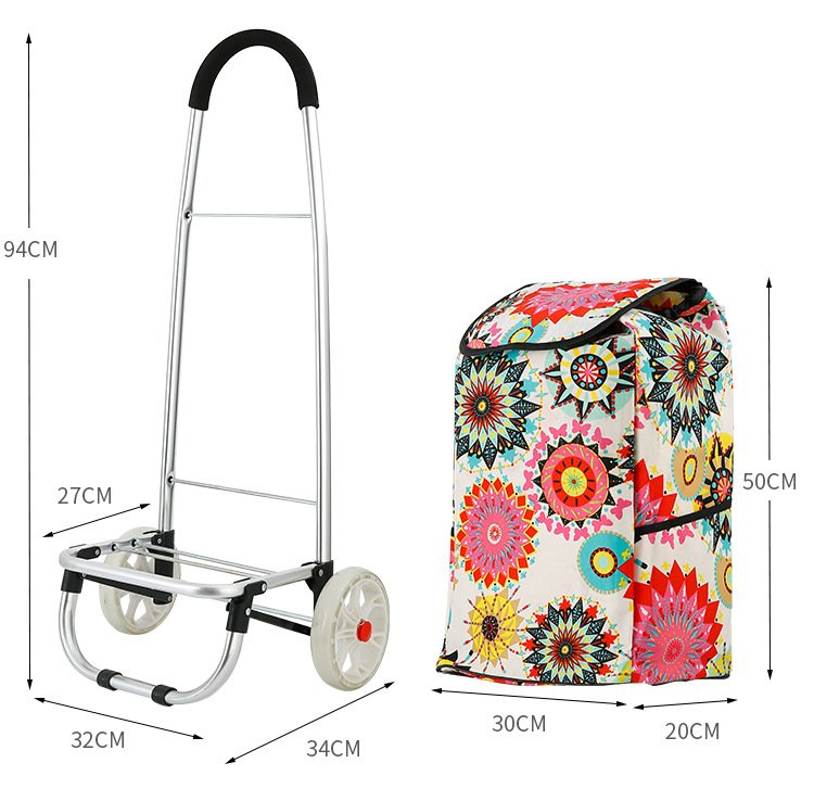 waterproof fabric foldable shopping trolley