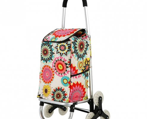 Folding Shopping Cart 3-Wheel Cart for Stairs