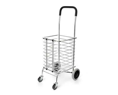 Portable Folding Shopping Basket Cart Trolley Four Wheel Aluminum Alloy