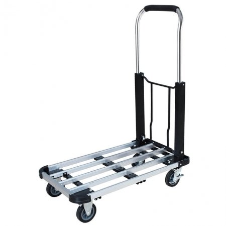 Heavy Duty 330 lb Aluminum Foldable Platform Hand Truck Cart