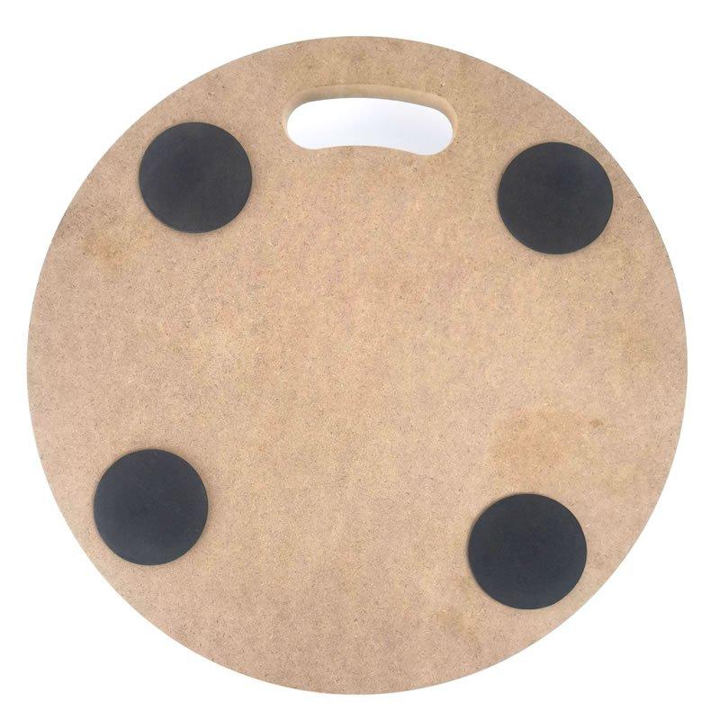 Round Wood Platform Dolly