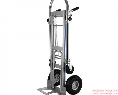 3-In-1 Convertible Aluminum Hand Truck with Flat Free Wheels